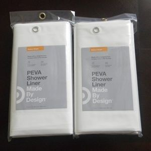 Pair of PEVA Shower Liners   Medium Weight